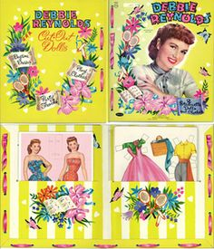 Debbie Reynolds paper dolls from the mid 50s