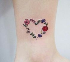 45 Ideas for flowers watercolor tattoo ankle Tattoos And Body Art ankle tattoo designs Subtle Tattoos, Pretty Tattoos, Beautiful Tattoos, Small Tattoos, White Tattoos, Tiny Tattoo, Temporary Tattoos, Ankle Tattoo Designs, Heart Tattoo Designs
