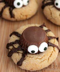 Spooky Spider Cookies for Halloween | Peanut Butter Spider Cookies