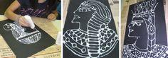Egyptian Chalk Portrait Art Lesson