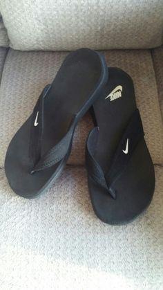 fb522de97fc Nike Celso South Beach Black Flip Flops Thongs 344087 Womens Size 8 Euro 39
