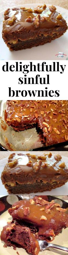Delightfully sinful brownies are a super easy dessert recipe that will have everyone droooooling! #easydessert #brownies #whatsfordessert