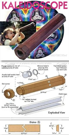 Wooden Kaleidoscope Plans - Children's Wooden Toy Plans and Projects | WoodArchivist.com