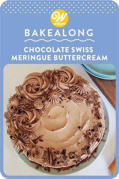 Chocolate Swiss Meringue Buttercream, Buttercream Recipe, Frosting Recipes, Dessert Recipes, Chocolate Frosting, Best Chocolate, How To Make Chocolate, Chocolate Flavors, Chocolate Desserts