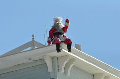 Santa on top of the Virginia Hotel in Cape May NJ www.capemayresort.com