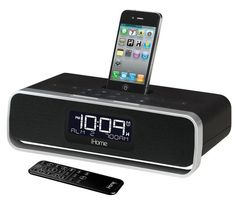 iHome iA91. Great kitchen/bedroom type iPod dock. Supports the iPhone as well and has a beautiful clock/alarm built in. $99.