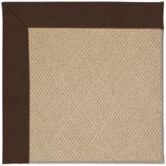 Capel Zoe Machine Tufted Brown/Beige Area Rug Rug Size: Round 12' x 12'