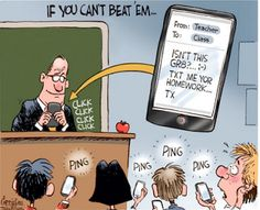Teacher texting students #education #literacy #comics