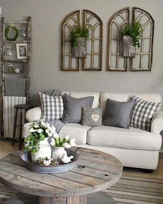 Cool 36 Charming Farmhouse Living Room Decoration Ideas For Home. Cool 36 Charming Farmhouse Living Room Decoration Ideas For Home. Cool 36 Charming Farmhouse Living Room Decoration Ideas For Home. Interior Design Living Room, Living Room Designs, Decorating Ideas For The Home Living Room, Living Room Themes, Decorating Kitchen, Rustic Home Decorating, Grey Living Rooms, Living Room Walls, Living Room Decorations
