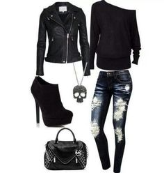 25 rocker chic winter outfits you will love, WİNTER OUTFİTS, 25 rocker chic winter outfits you will love - 25 rocker chic winter outfits you will love. Cute Emo Outfits, Punk Outfits, Hipster Outfits, Teen Fashion Outfits, Emo Fashion, Cute Emo Clothes, Fashion Boots, Goth Clothes, Grunge Outfits