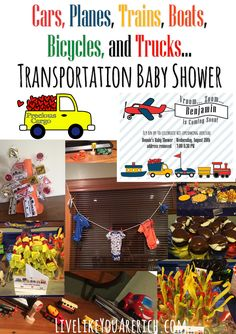 Cars, Planes, Trains, Boats, Bicycles, and Trucks… Transportation Baby Shower