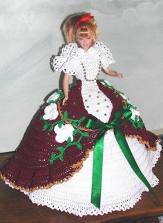 CROCHET FASHION DOLL PATTERN-#664 CALENDAR DOLL APRIL 2009 #ICSORIGINALDESIGNS