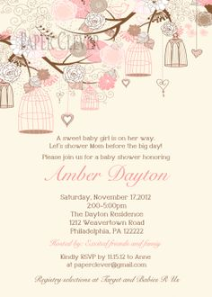 Oh my gosh a baby shower invite that is beautiful, I had this same invitation suite for my wedding and loved it.