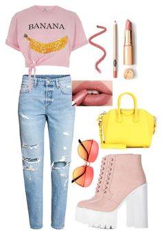 """""""Bananas"""" by bitty-junkkitty ❤ liked on Polyvore featuring River Island and Givenchy"""
