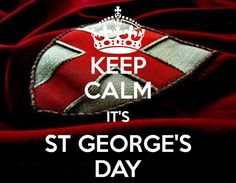 'KEEP CALM IT'S ST GEORGE'S DAY' Poster