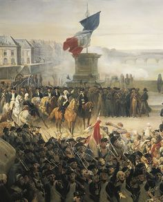 The Paris National Guard on its way to the Army (detail) by Léon Cogniet