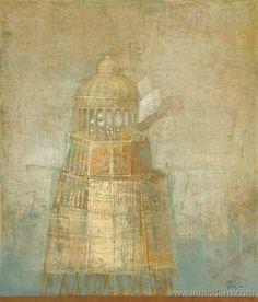 Alexey Terenin(Russian, b.1969) Tower-birdfeeder  2009 Oil, canvas