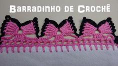 Barradinho de Crochê Fácil de Fazer # Borboletas