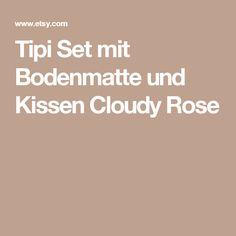 Tipi Set mit Bodenmatte und Kissen Cloudy Rose
