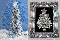 Christmas tree decorations, Framed Jewelry Christmas Tree  (700x463, 323Kb)