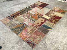 Colorful Rug, Carpet, Patchwork Rug, 6'9x9'8ft, Anatolian Rug, Patchwork Carpet, 211x300cm, Oushak Rug, Area Rug by EclecticRug on Etsy