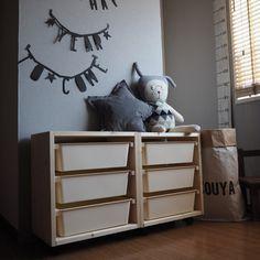 ***ダイソーの「スクエアボックス」でIKEAの「トロファスト」を簡単DIY! |LIMIA (リミア) Wood Crafts, Diy And Crafts, Toy Chest, Storage Chest, Kids Room, Projects To Try, Interior, Furniture, Home Decor