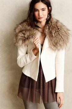 Adelie Faux-Fur Cardigan - anthropologie.com