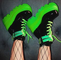 Rave Shoes, Goth Shoes, Neon Shoes, Shoes Heels, Aesthetic Shoes, Aesthetic Clothes, High Platform Shoes, Kawaii Shoes, Rave Outfits