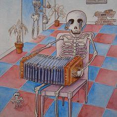 La mort jouant le bandoneon