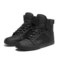 Supra Skytop Sneakers media gallery on Coolspotters. See photos, videos, and links of Supra Skytop Sneakers. Supra Sneakers, Supra Shoes, Supra Footwear, Shoes Sneakers, Black Shoes, All Black Sneakers, High Top Sneakers, Supra Skytop, Tennis