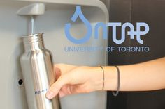 U of T is phasing out bottled water on its campuses. (graphic by Caz Zyvatkauskas)