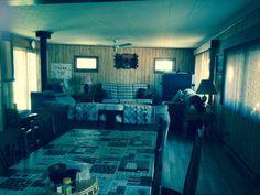 Bracebridge cottage rental - dining and living room Cottages, Sleep, Dining, Living Room, Bedroom, Furniture, Home Decor, Dinner, Room