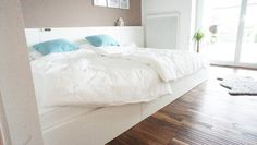 Big Family Bed DIYble with 3 Ikea Malm beds for kids; original project by annipalanni.blogspot