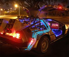Travel back in time with this Back To The Future inspired DeLorean rental car that features an actual flux capacitor inside. This is one rental car you'd be wise to get the rental insurance plan for Back To The Future, Future Car, Bttf Delorean, Delorean Time Machine, Car Rental, Concept Cars, Cars And Motorcycles, Cool Cars, Movies