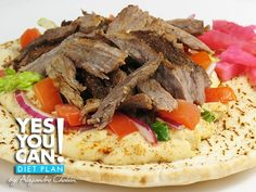Open Faced Mediterranean Sandwich - A healthy option for your Yes You Can! Diet Plan lunch