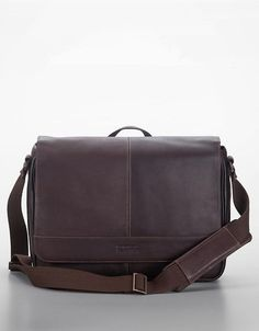 7744e27e31 Dark Brown Leather Messenger Bag by Kenneth Cole Reaction. Buy for $150  from Lord & Taylor