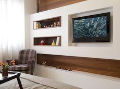 Painel-tv pode ser feito em gesso ficando muito mais barato que planejado