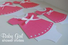baby dress shower invitations from Craftaholics Anonymous
