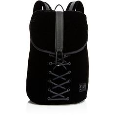 Fenty Puma x Rihanna Lace-Up Backpack (4.260.830 IDR) ❤ liked on Polyvore featuring bags, backpacks, backpack, accessories, black, decorating bags, daypack bag, backpack bags, rucksack bags and day pack backpack