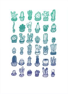 Cactus Garden Print by CactusClub on Etsy, $20.00