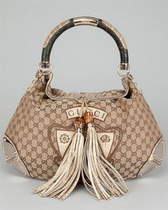 Gucci GG Canvas Indy Tassel Hobo