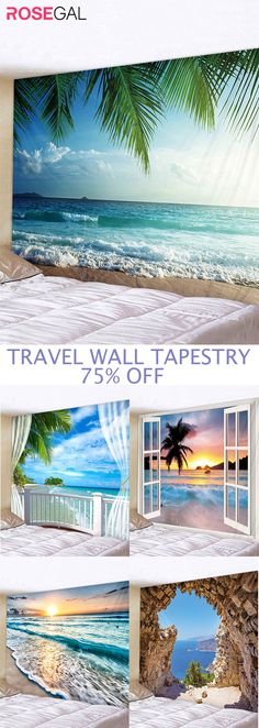 Home staying wall tapestry even travel at home enjoy beach travel with this fancy wall tapestry
