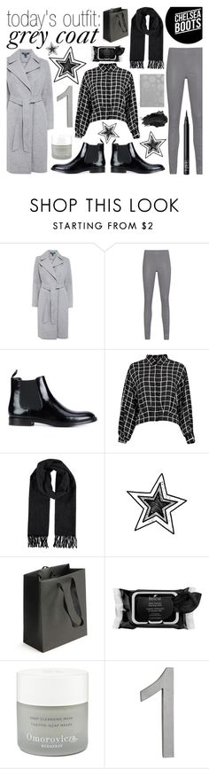 """""""today's outfit: grey coat - 20161125"""" by catharine-polyvore on Polyvore featuring Lauren Ralph Lauren, Arma, Marc Jacobs, Boscia, Omorovicza, CB2, Urban Decay and NARS Cosmetics"""