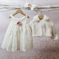 Φόρεμα βάπτισης Bambolino Giasemi, annassecret, Χειροποιητες μπομπονιερες γαμου, Χειροποιητες μπομπονιερες βαπτισης Girls Dresses, Flower Girl Dresses, Winter Outfits, Winter Clothes, Little Darlings, Baby Wearing, Tween, Christening, Organic Cotton