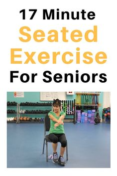 These seated chair exercises for seniors are a perfect, low impact way to work out, whether you're stuck sitting at a desk or simply not comfortable doing a standing workout today. Fitness Smoothies, Strength Workout, Strength Training, Exercise While Sitting, Sitting Down Exercises, Chair Exercises For Abs, Stretching Exercises, Workout Exercises, Fitness Exercises