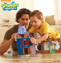 Your child can join SpongeBob's adventures under the sea with the Imaginext® SpongeBob SquarePants Play Set!