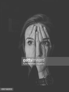 Foto stock : Double Exposure Image Of Woman Covering Face