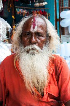 A #Hindu pigrim at Dashashwamedh Ghat