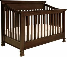 Million Dollar Baby Classic Foothill 4-in-1 Convertible Crib w Toddler Bed Conversion Kit- Espresso