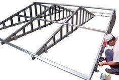 3 Effortless ideas: Shed Roofing Ceiling gray steel roofing.Shed Roofing Portico glass roofing circle. Diy Roofing, Modern Roofing, Steel Roofing, Roofing Shingles, Metal Stud Framing, Roof Truss Design, Carport Designs, Steel Frame Construction, Fibreglass Roof